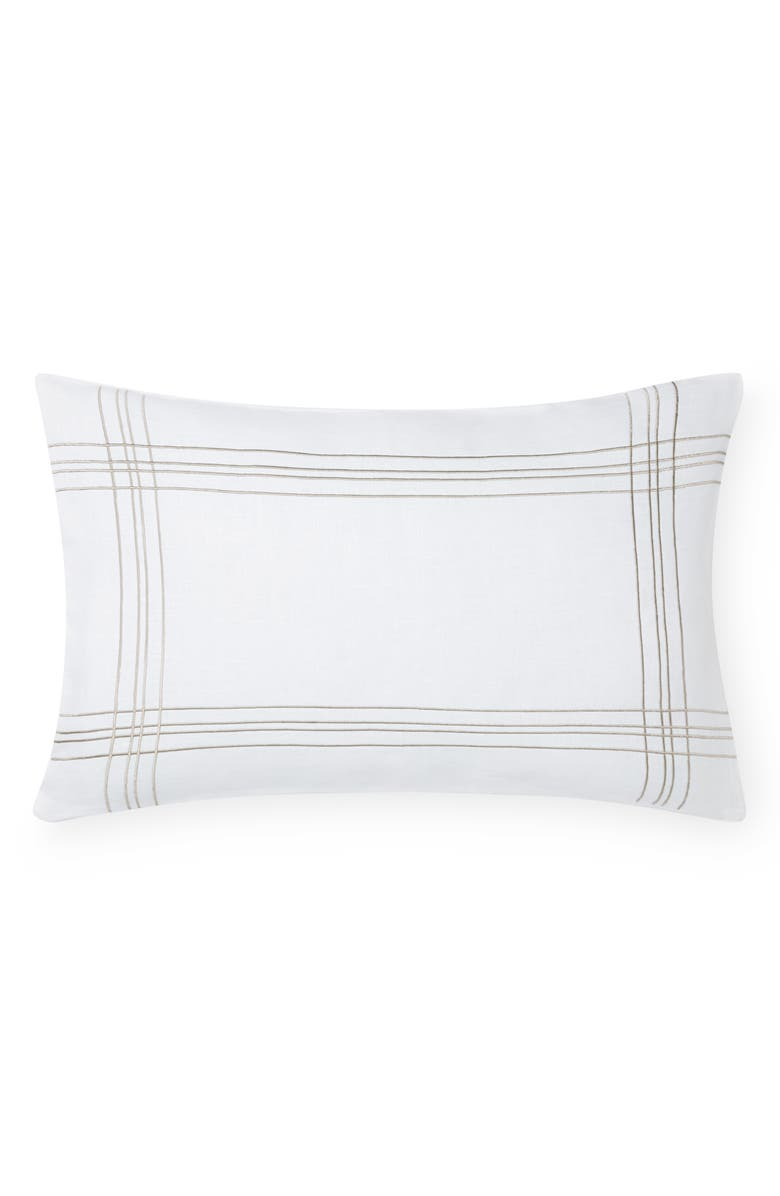 SFERRA Chianni Accent Pillow, Main, color, WHITE/LATTE