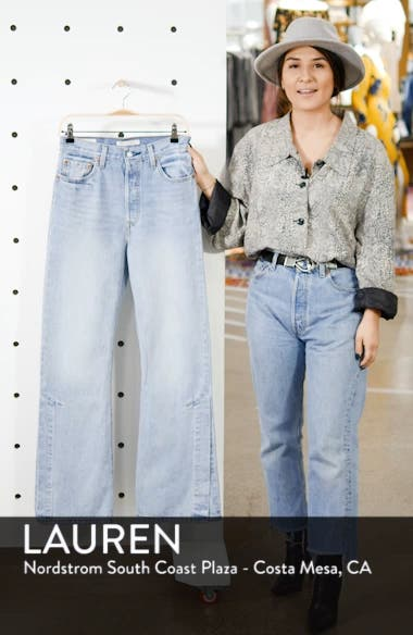 Ribcage Super High Waist Split Flare Jeans, sales video thumbnail