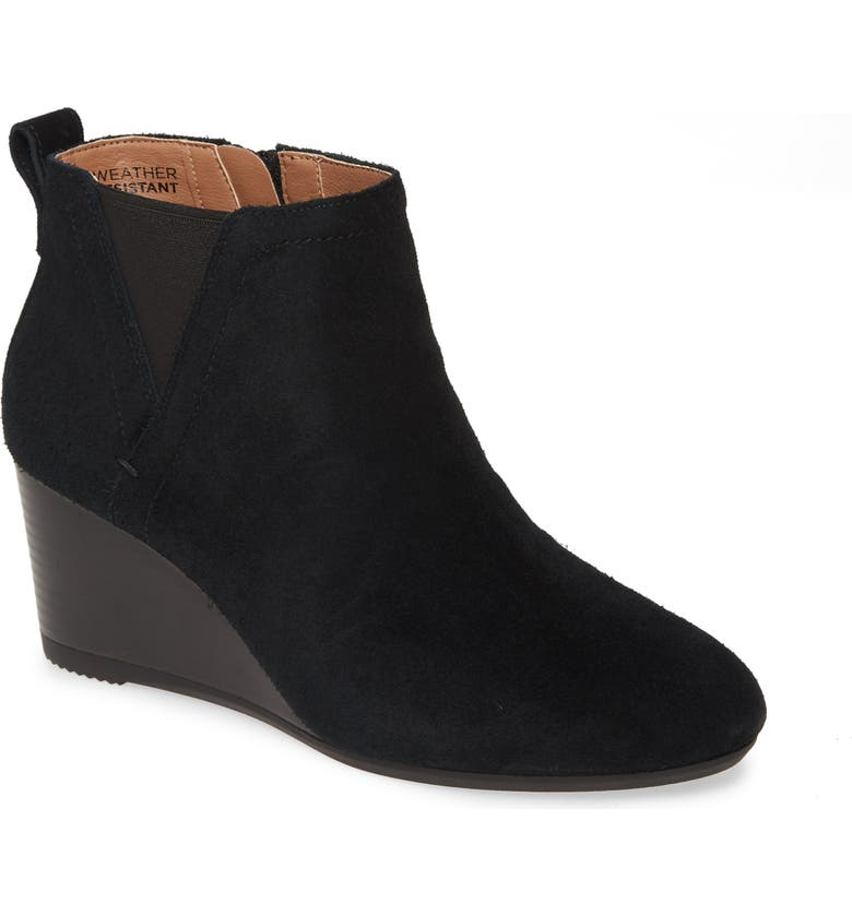 VIONIC Paloma Wedge Bootie, Main, color, BLACK SUEDE