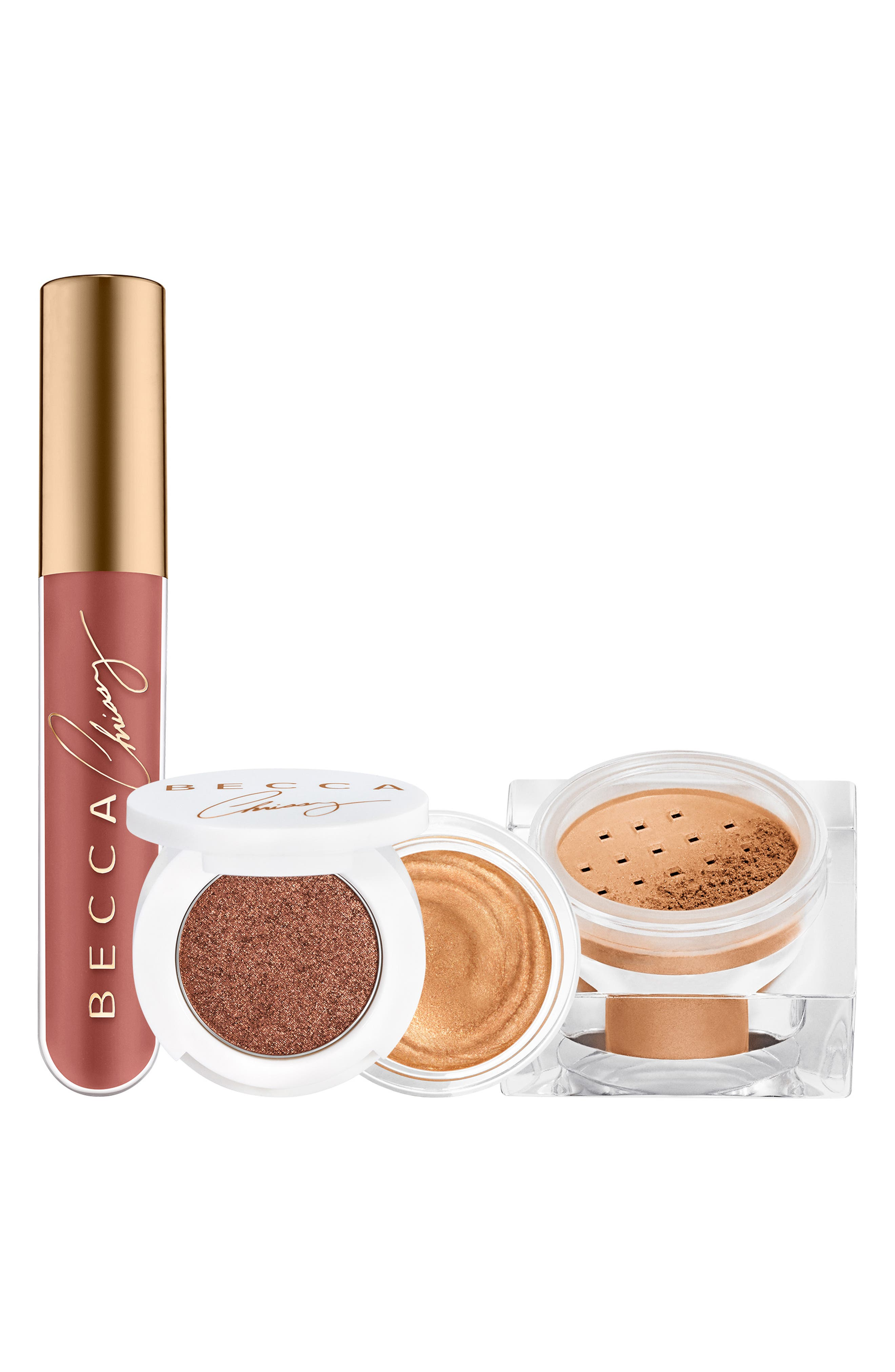 Image of BECCA Cosmetics Chrissy Cravings 3-Piece Glow Recipe Kit