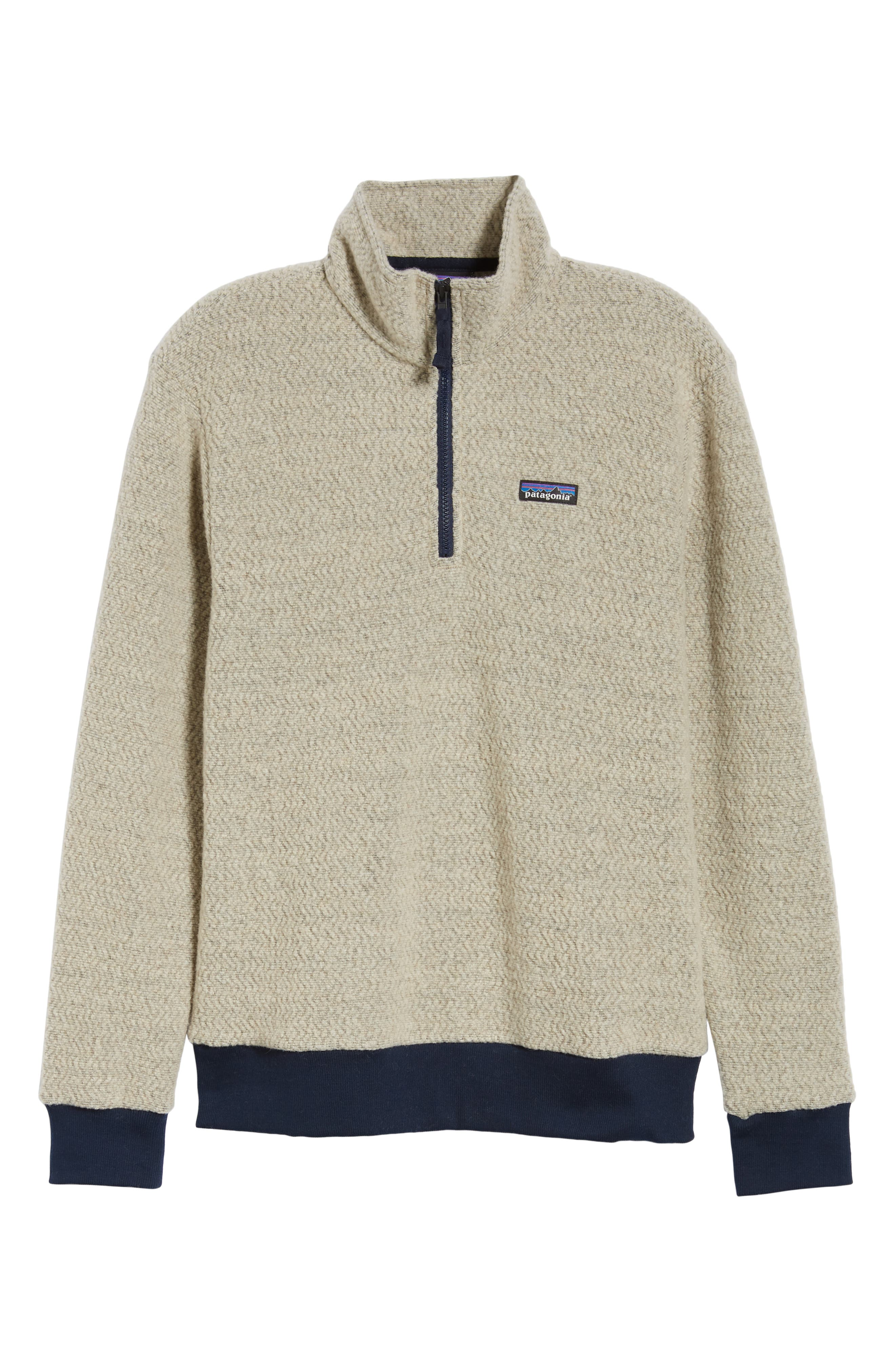 ,                             Woolyester Fleece Quarter Zip Pullover,                             Alternate thumbnail 6, color,                             OATMEAL HEATHER