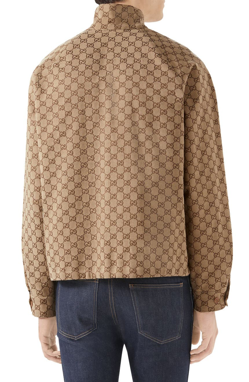 ed13c7d69d Gucci GG Canvas Bomber Jacket | Nordstrom