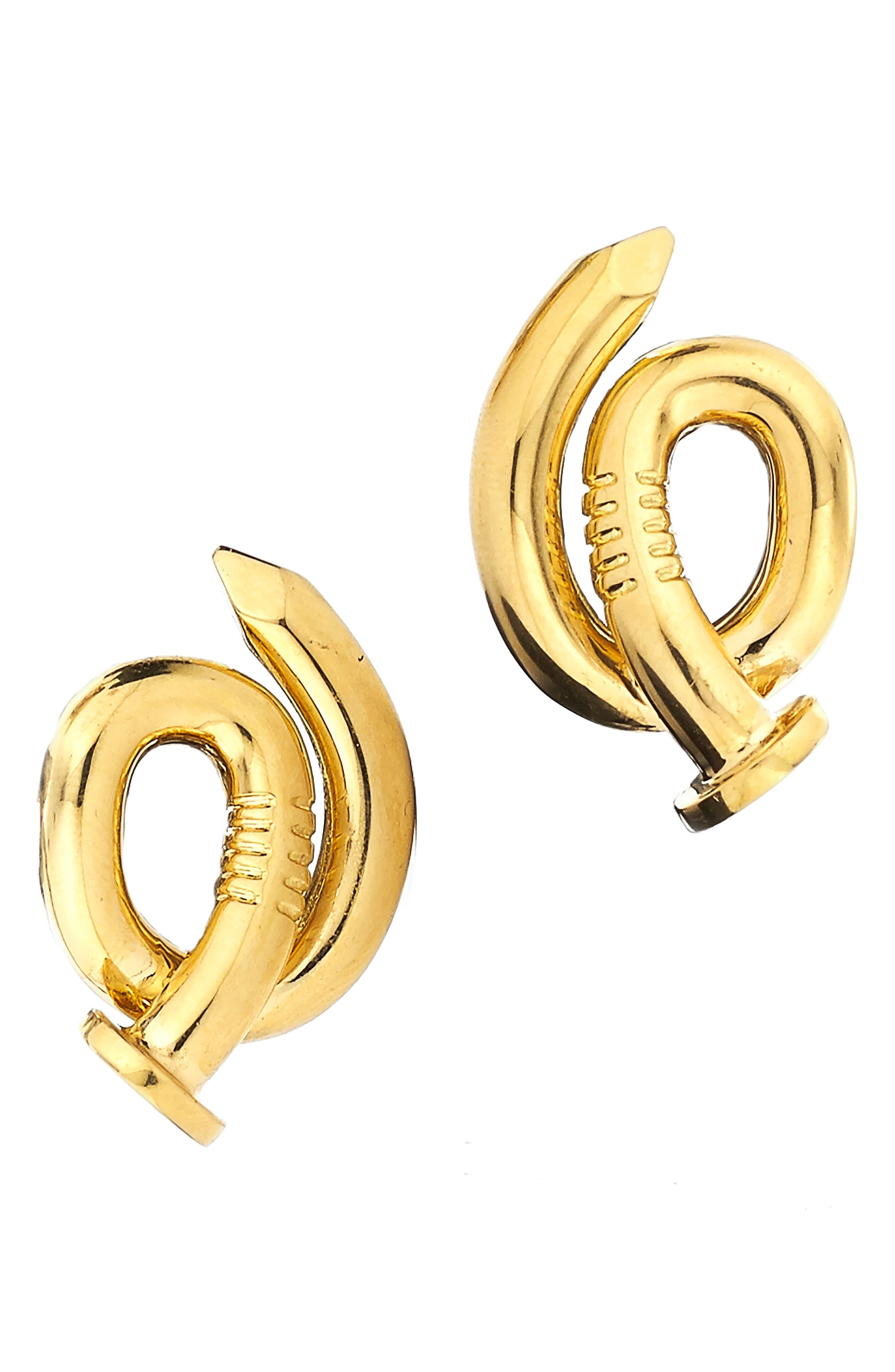 Bent Nail Earrings