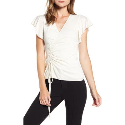 Bailey 44 Lucy Ruched Top, Ivory