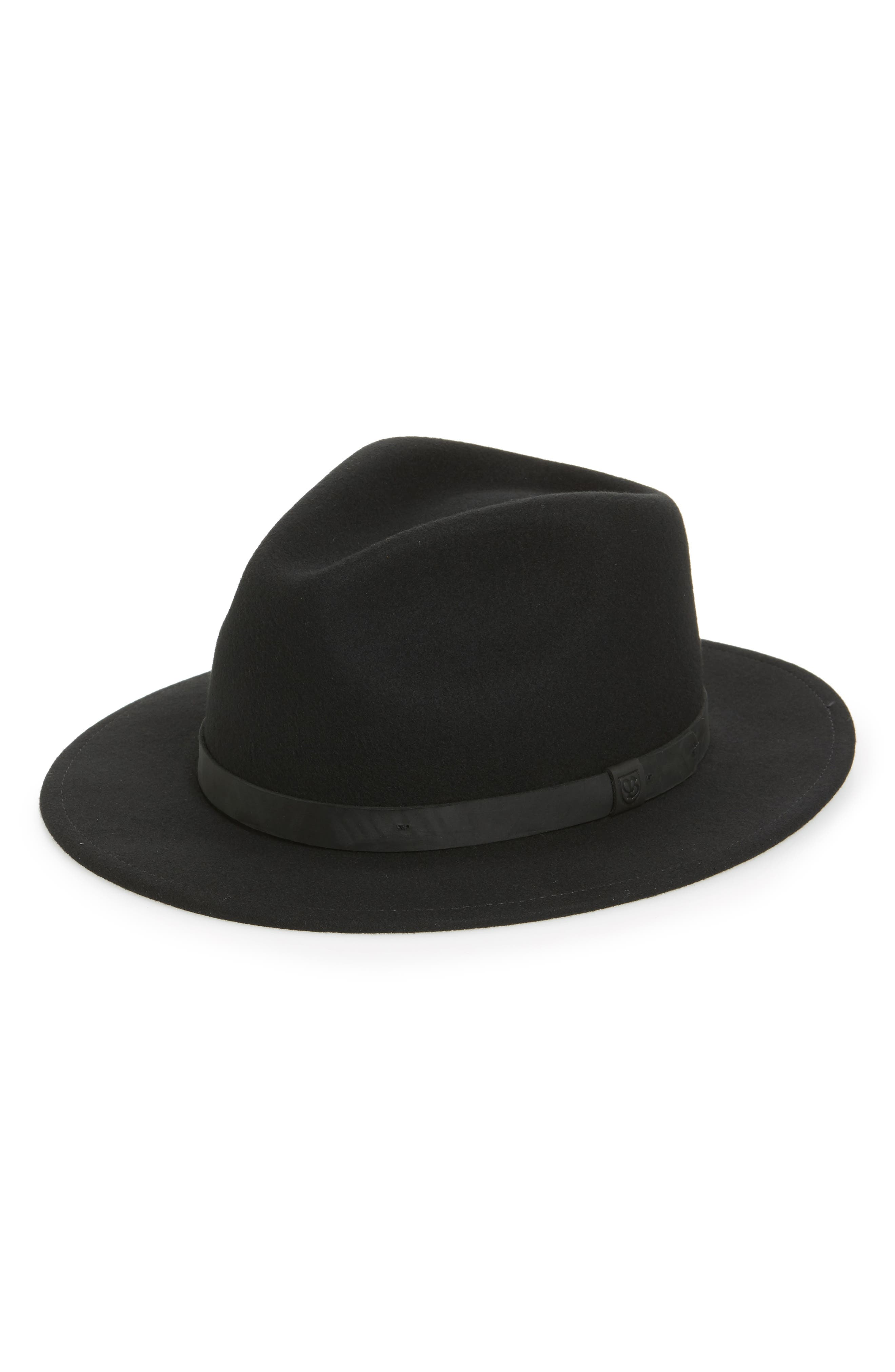 Brixton Messer Ii Felted Wool Fedora - Black (Nordstrom Exclusive)
