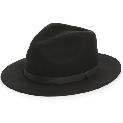 Brixton Messer Ii Felted Wool Fedora - Black (Nordstrom Exclusive)