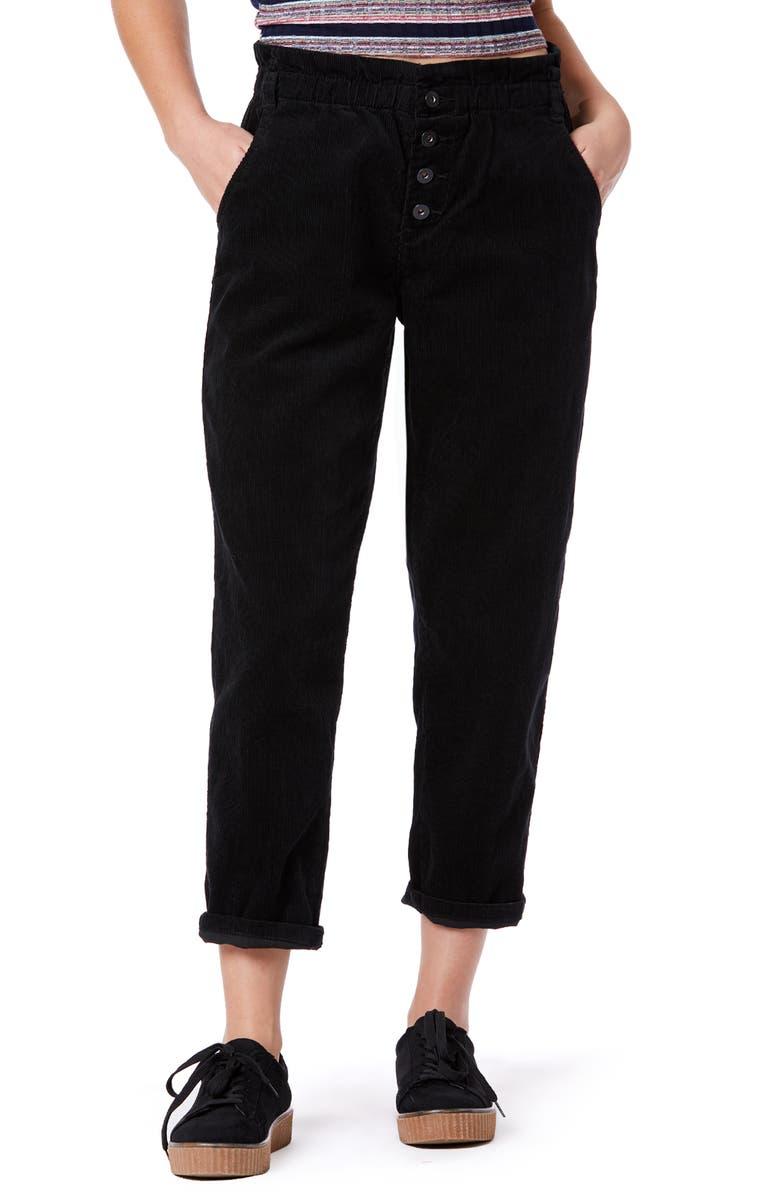 UNIONBAY Lucie Corduroy Ankle Pants, Main, color, BLACK