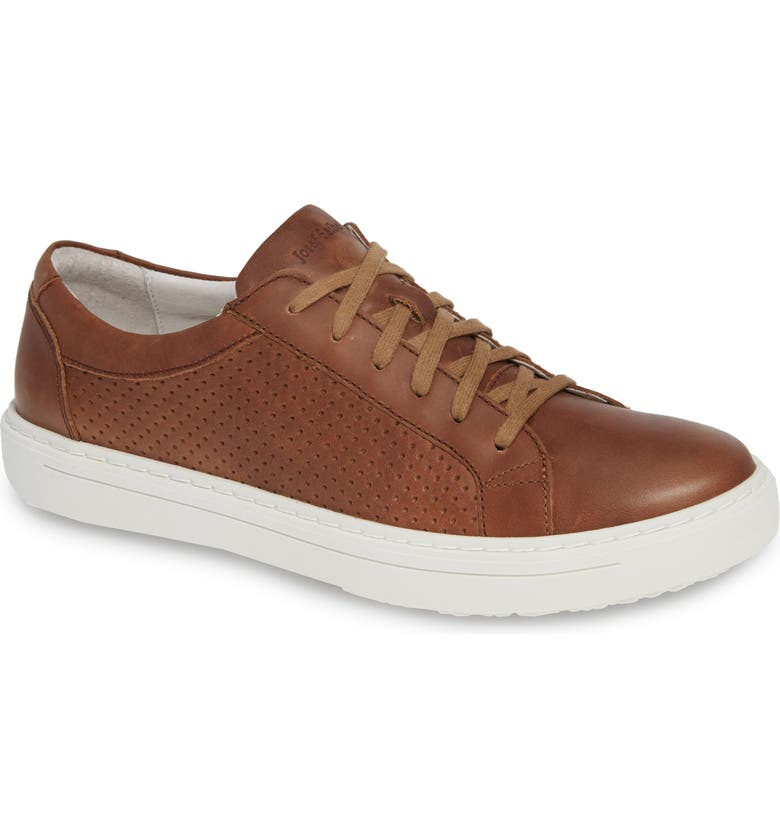 JOSEF SEIBEL Quentin 13 Perforated Sneaker, Main, color, BRANDY LEATHER