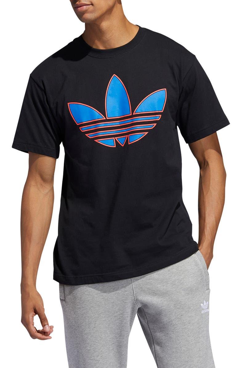 ADIDAS ORIGINALS Trefoil Logo T-Shirt, Main, color, BLACK