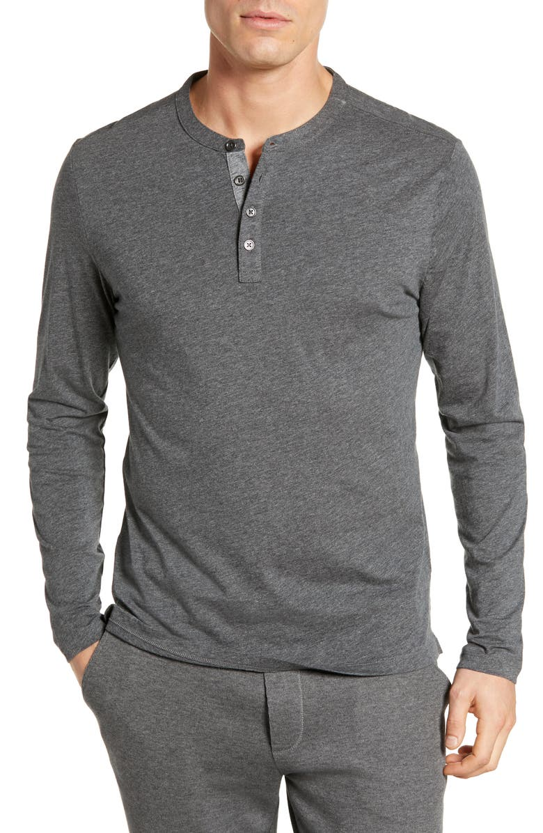 ROBERT BARAKETT Flynn Long Sleeve Henley, Main, color, 010