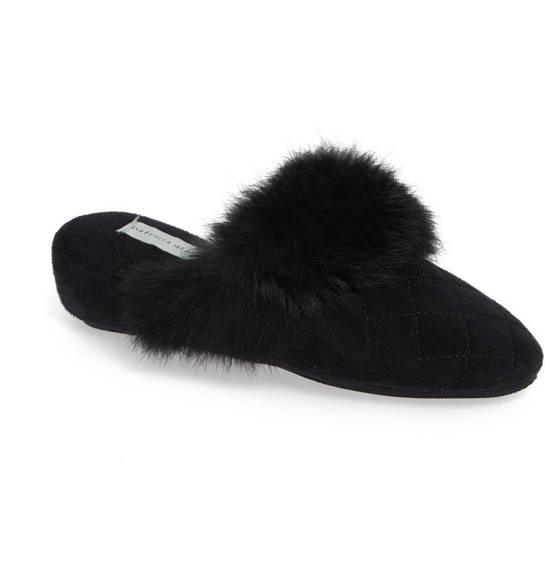 Josephine Genuine Rabbit Fur Trim Slipper