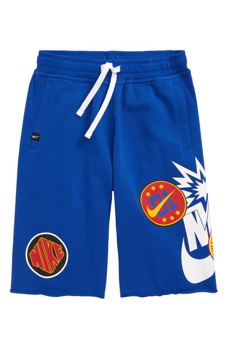 NIKE Alumni DNA Shorts, Main, color, GAME ROYAL/ WHITE