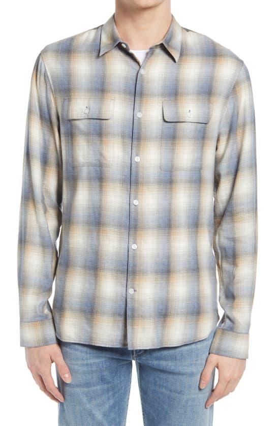 Vince T-shirts SHADOW PLAID BUTTON-UP SHIRT