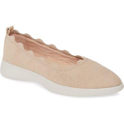 Taryn Rose Dasha Scallop Sock Flat, Ivory