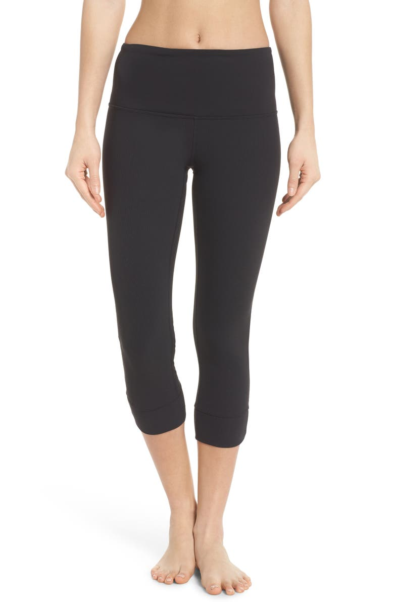 ZELLA Lyrical High Waist Crop Leggings, Main, color, 001