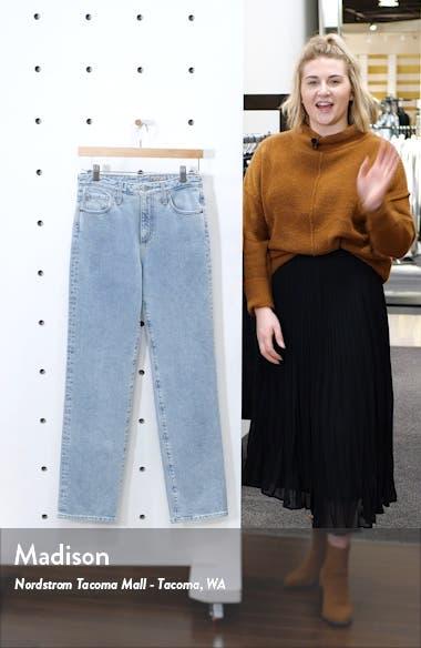 Alexxis Vintage High Waist Straight Jeans, sales video thumbnail