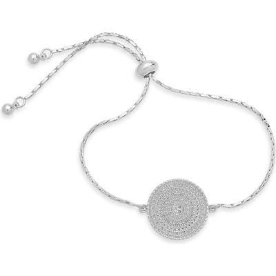 Sterling Forever Medallion Slider Bracelet