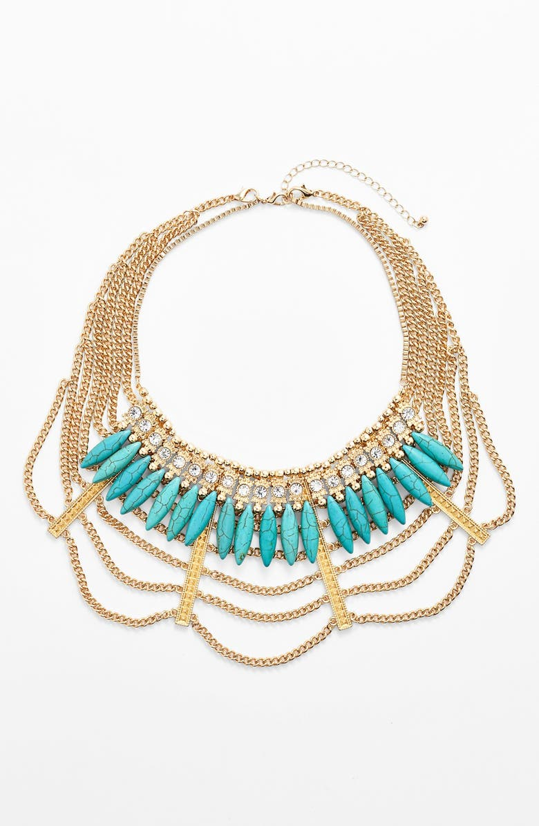 LEITH Multi Chain Mesh Necklace, Main, color, 440