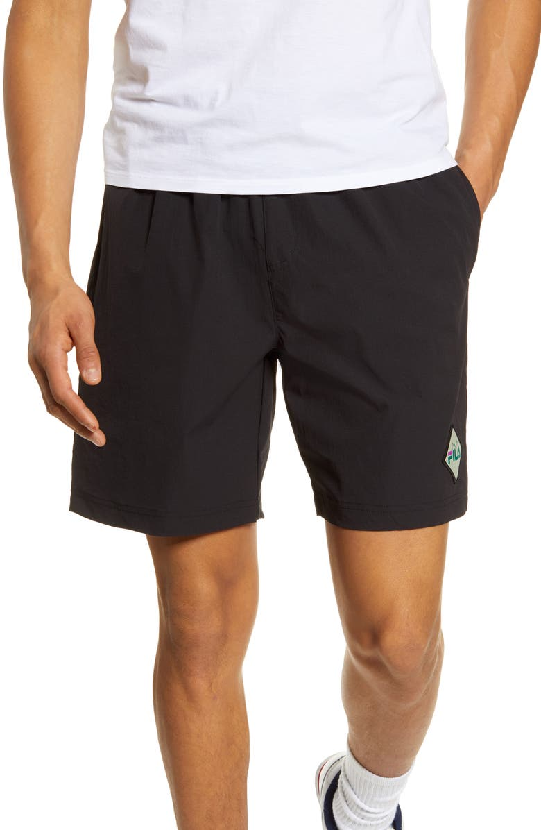 FILA Windshear Shorts, Main, color, BLACK