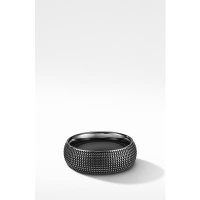 David Yurman Sky Band Ring In Black Titanium