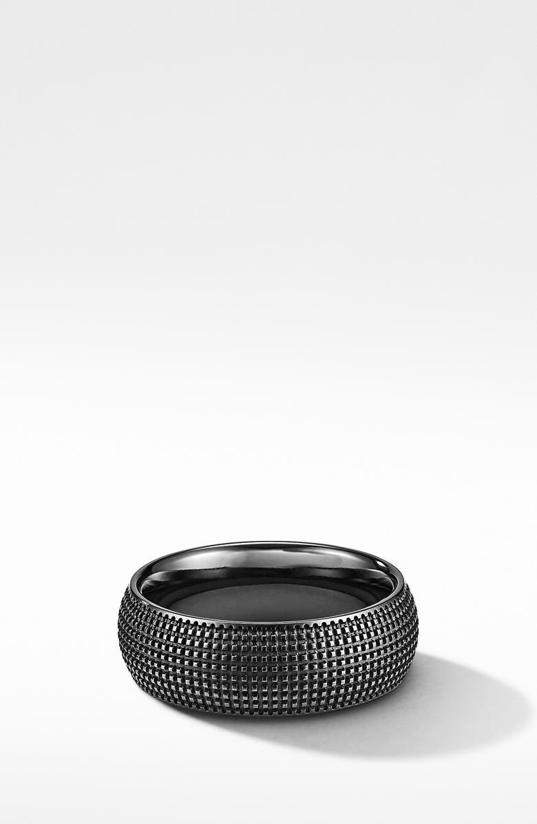 DAVID YURMAN Sky Band Ring in Black Titanium, Main, color, BLACK TITANIUM
