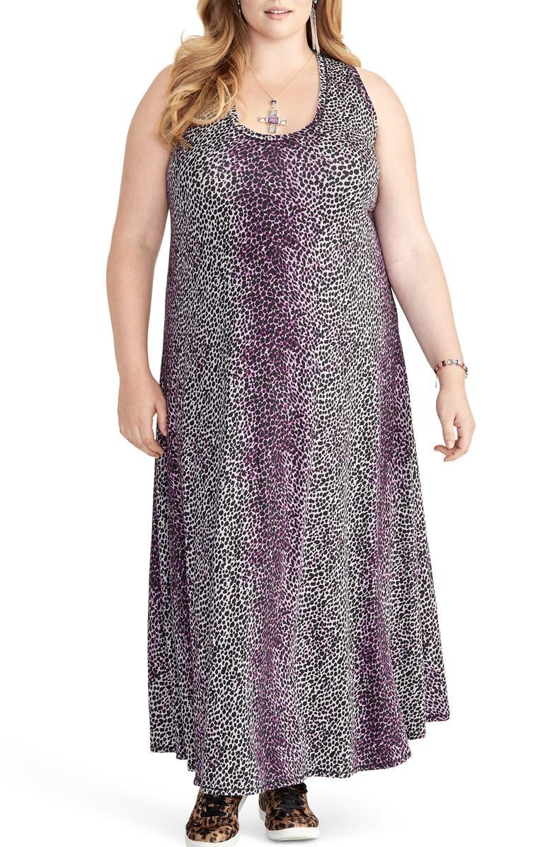 RACHEL RACHEL ROY Rachel Roy Samantha Leopard Print Maxi Dress, Main, color, 500
