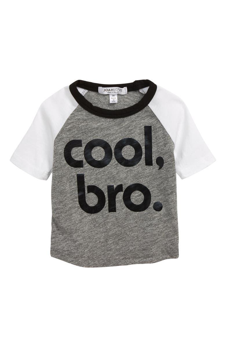 JOAH LOVE Cool Bro Baseball T-Shirt, Main, color, 020