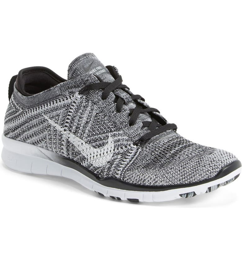 NIKE 'Free Flyknit 5.0 TR' Training Shoe, Main, color, 001