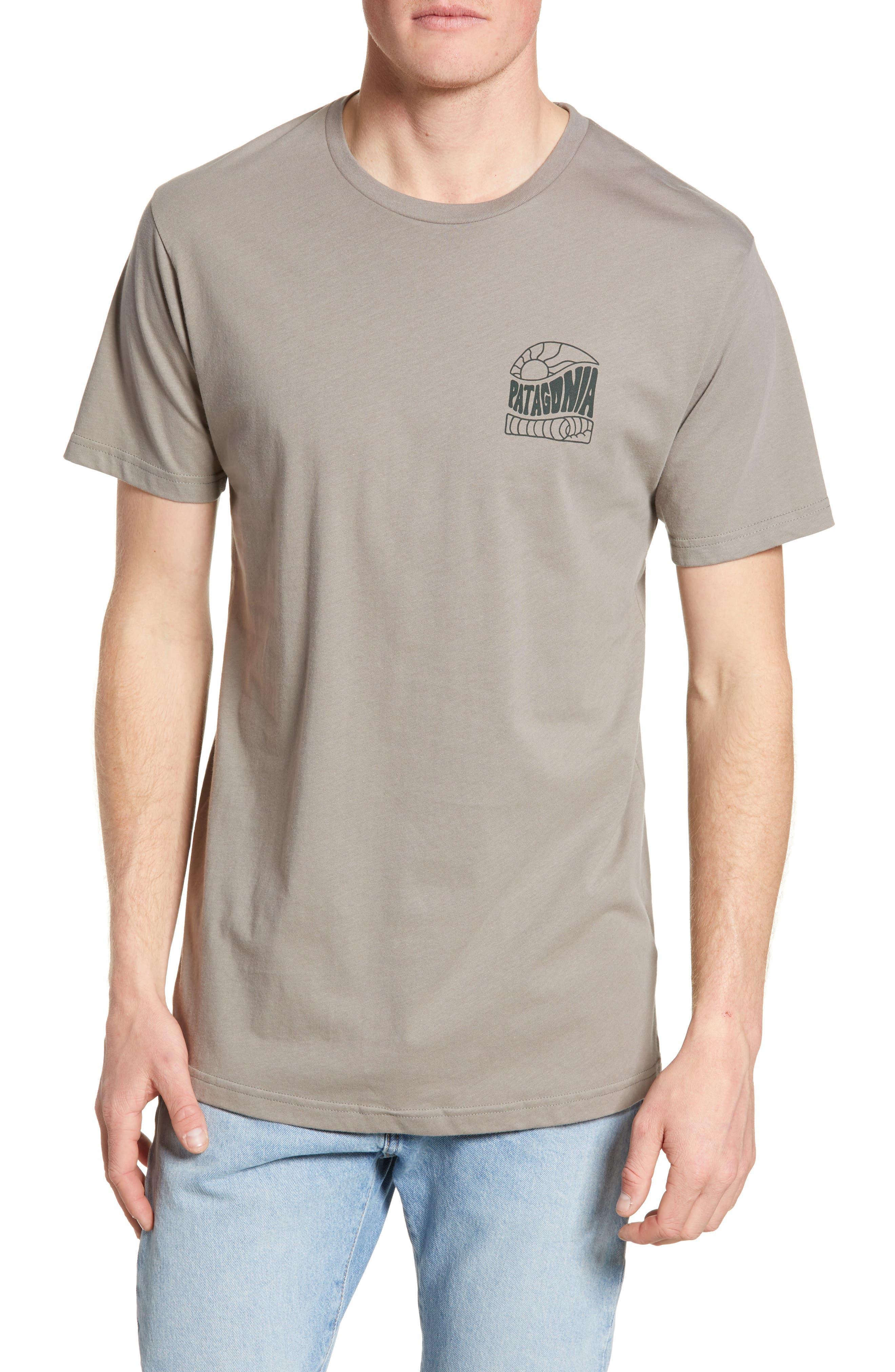 Patagonia Cosmic Peaks Graphic Organic Cotton T-Shirt, Grey
