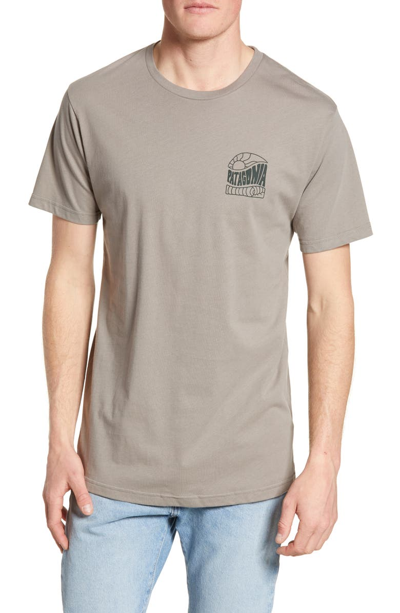 PATAGONIA Cosmic Peaks Graphic Organic Cotton T-Shirt, Main, color, FEATHER GREY