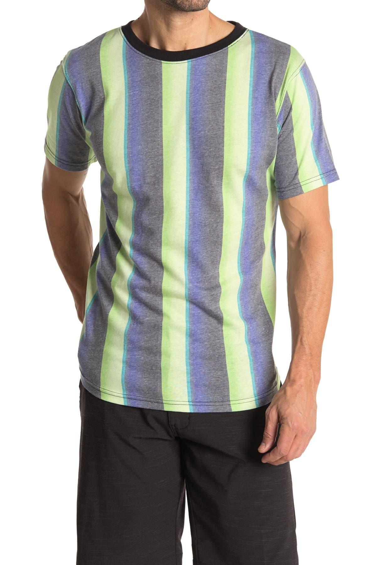 Image of Burnside Stripe Crew Neck T-Shirt