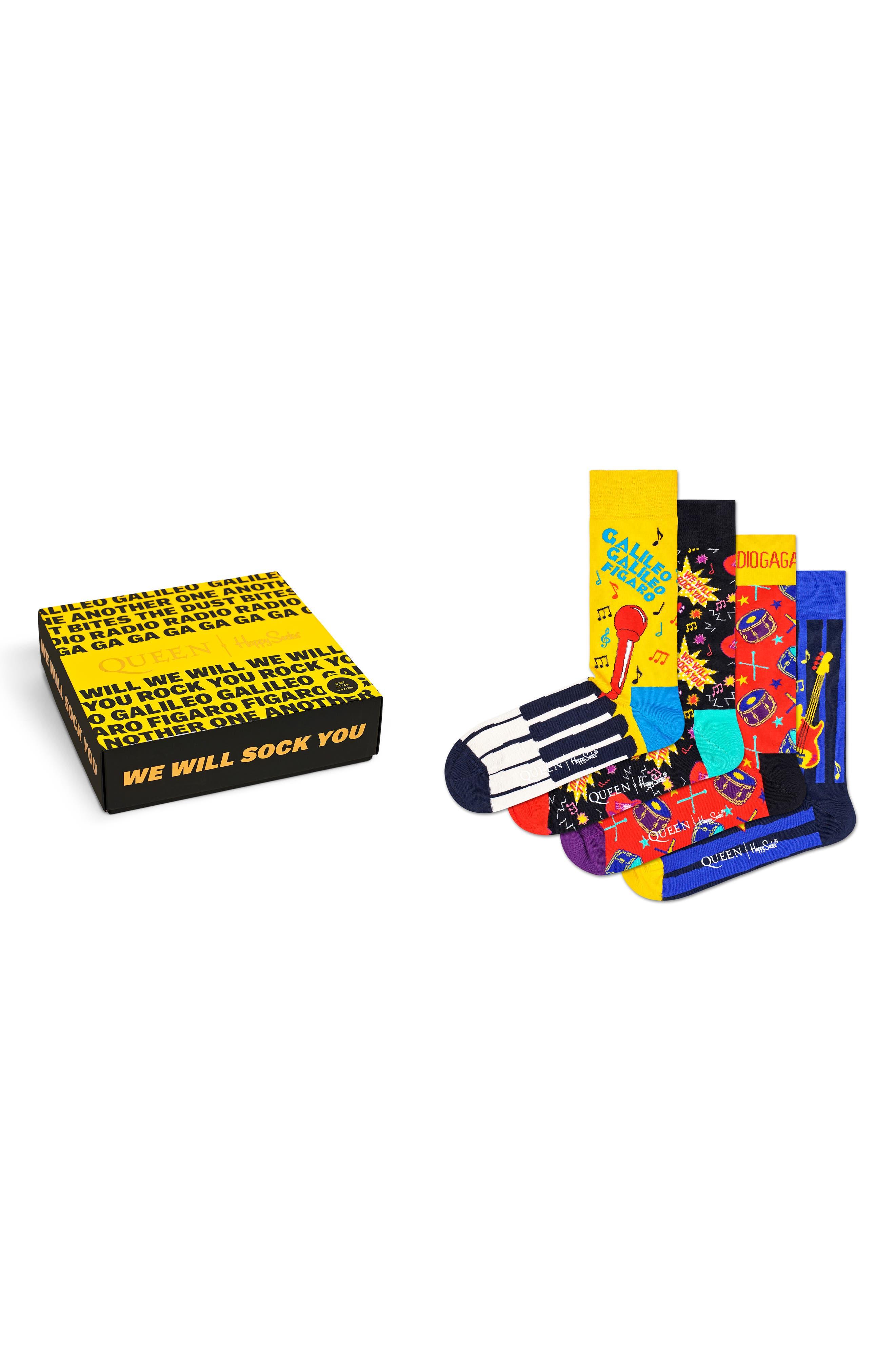 X Queen 4-Pack Sock Gift Box