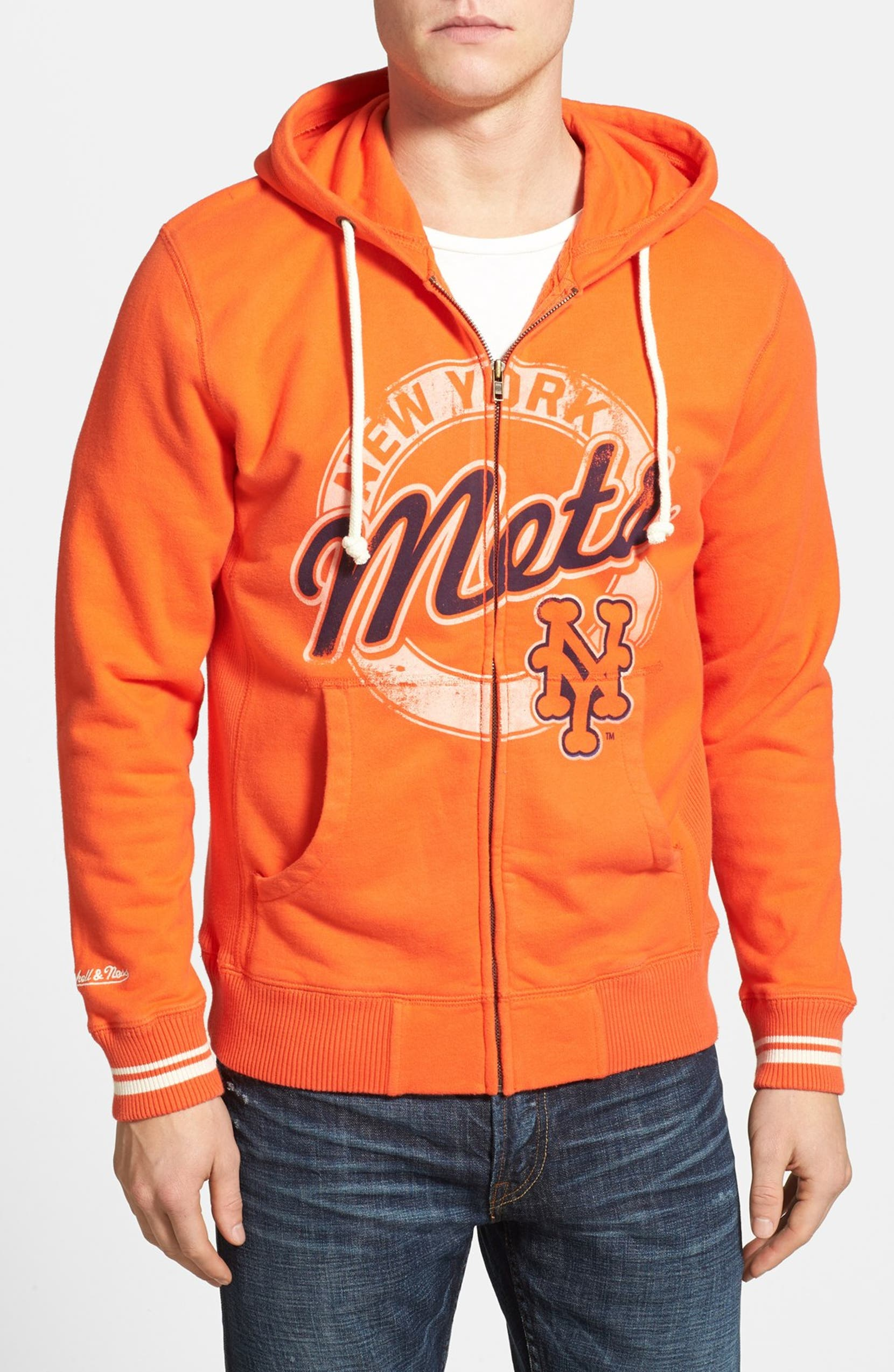 sale retailer 82a85 c2c89 Mitchell & Ness 'New York Mets' Full Zip Hoodie | Nordstrom