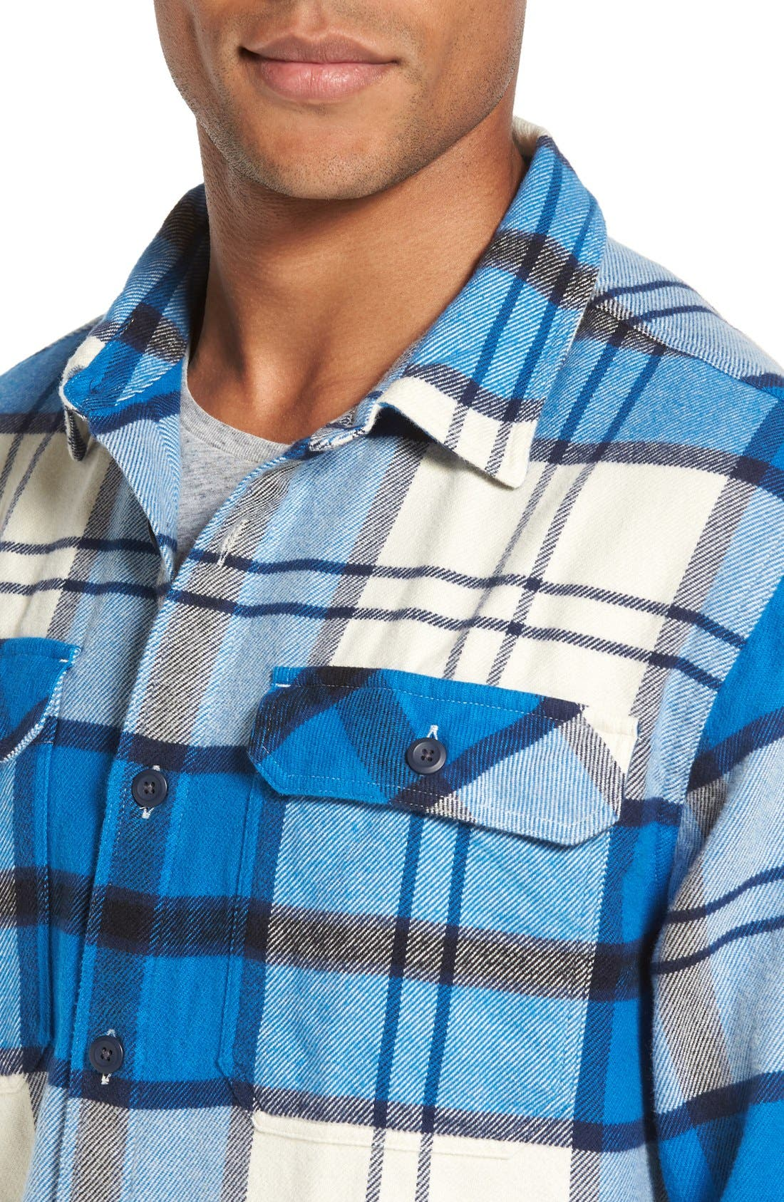 ,                             'Fjord' Regular Fit Organic Cotton Flannel Shirt,                             Alternate thumbnail 113, color,                             407