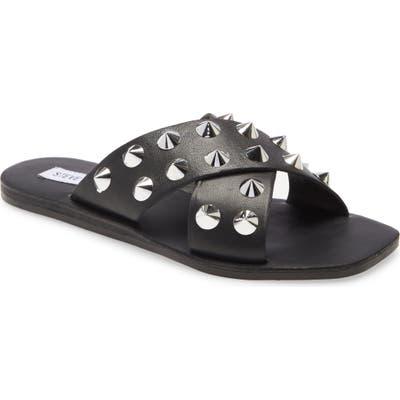 Steve Madden Spike Slide Sandal- Black