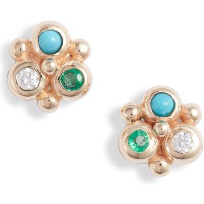 Anzie Dew Drop Mini Fleur Stud Earrings