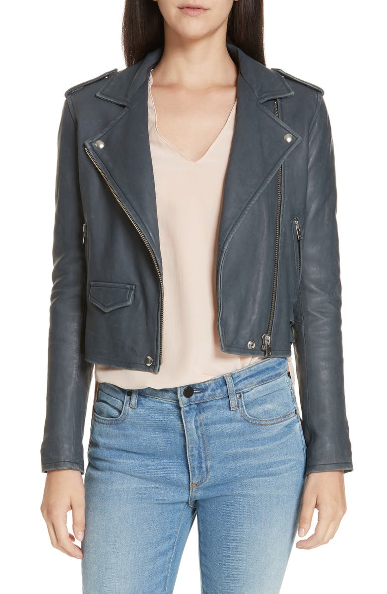 IRO 'Ashville' Leather Jacket, Main, color, 032