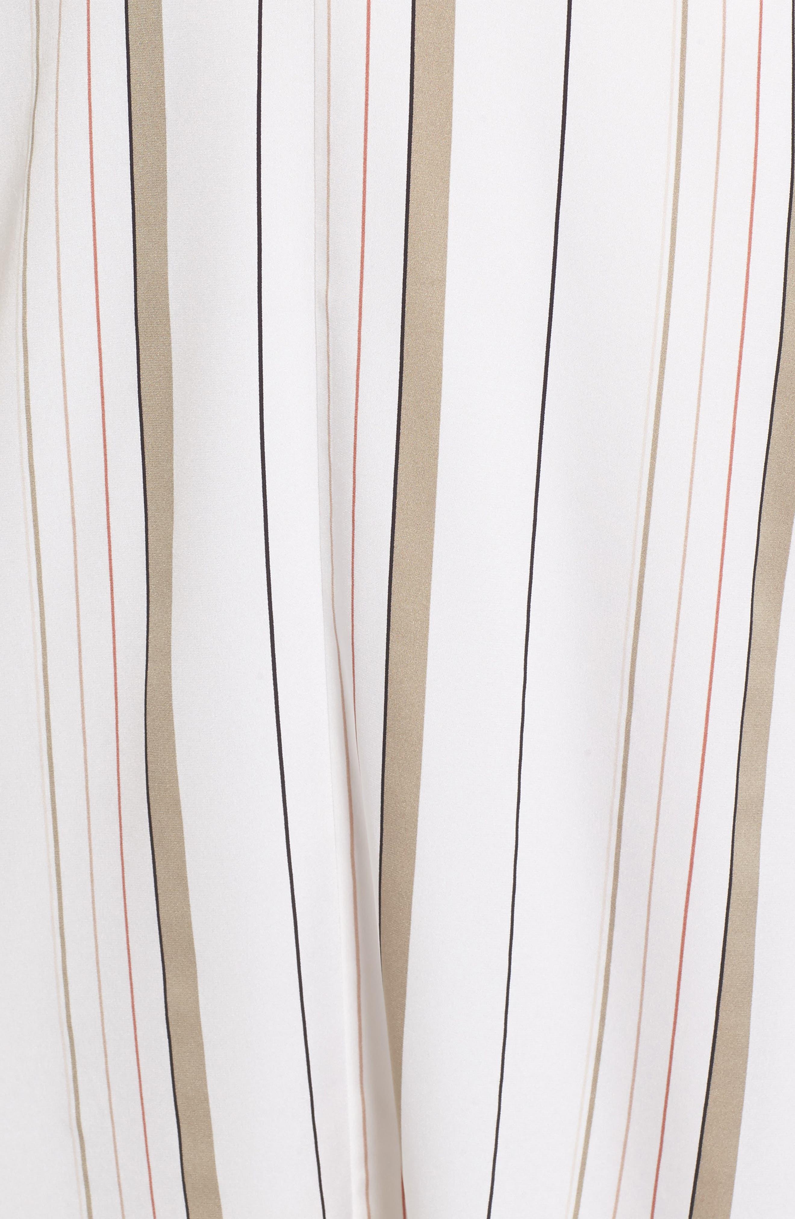 ,                             Stripe Stretch Silk Dress,                             Alternate thumbnail 5, color,                             900