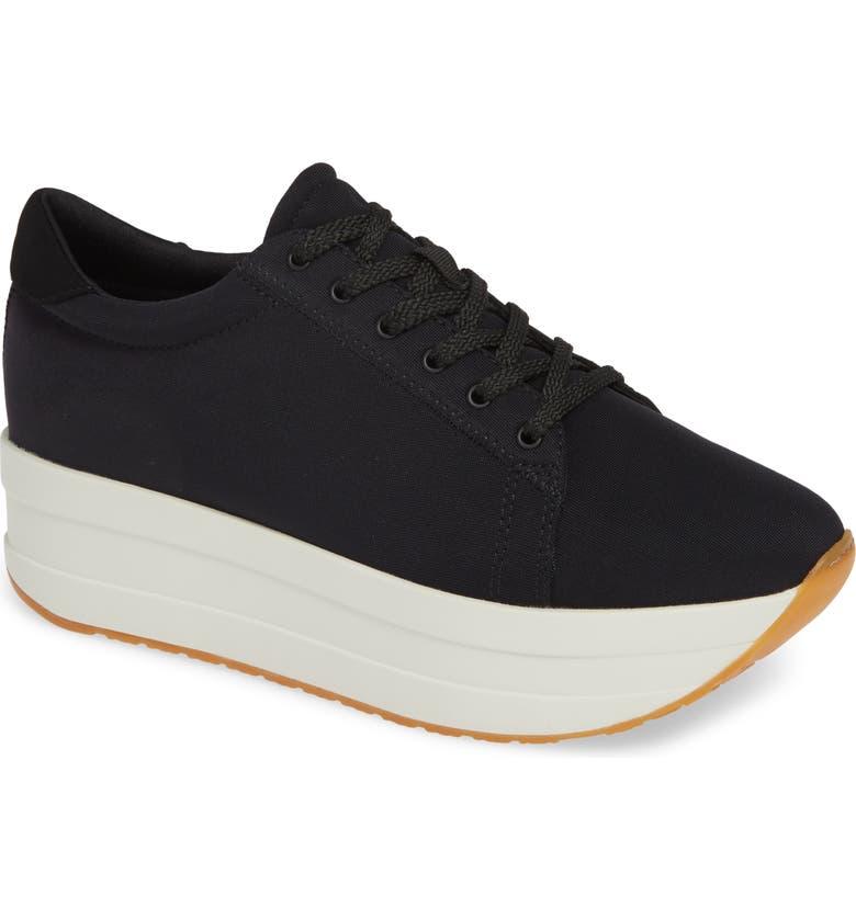 VAGABOND SHOEMAKERS Casey Platform Sneaker, Main, color, BLACK/ BLACK FABRIC