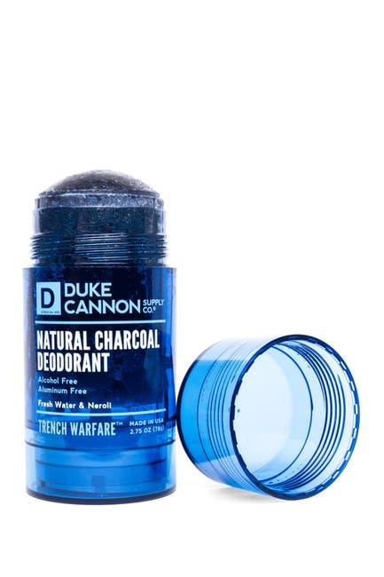 Image of DUKE CANNON Trench Warfare Natural Charcoal Deodorant - Fresh Water + Neroli