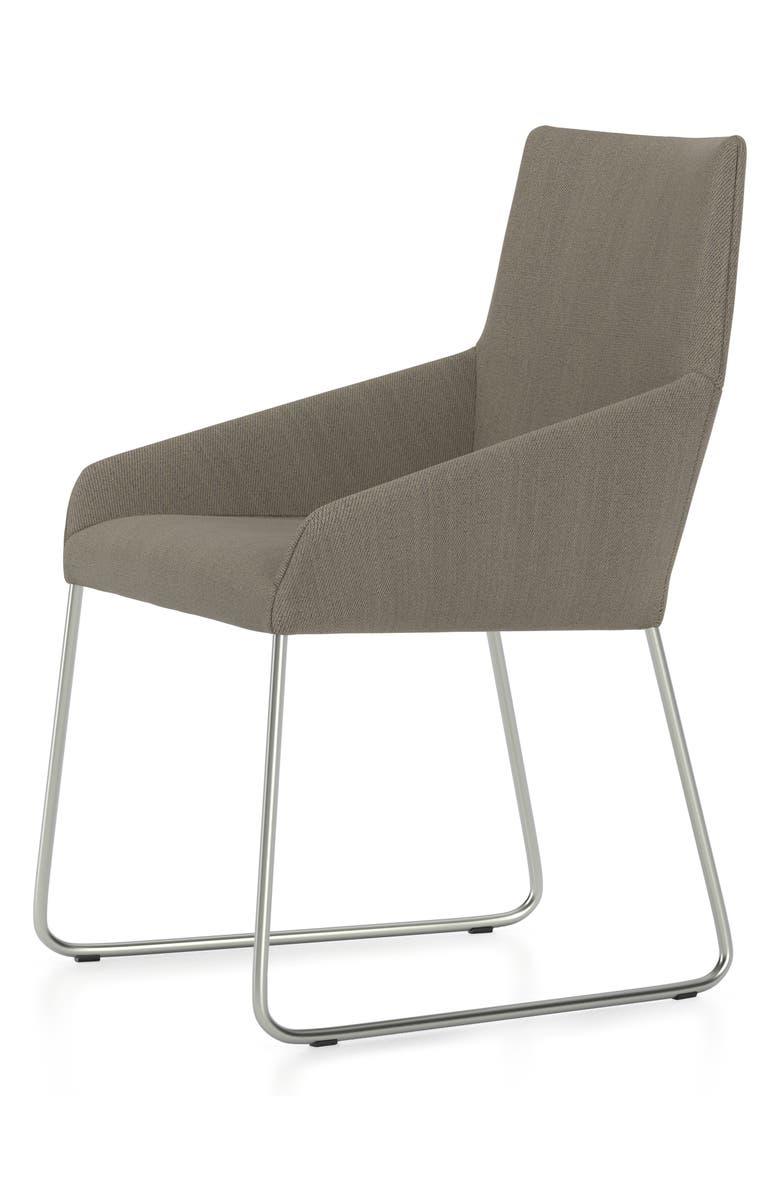 DESIGN ON STOCK USA Penta Sled Wool Chair, Main, color, STEEL CUT TRIO MOONSTONE