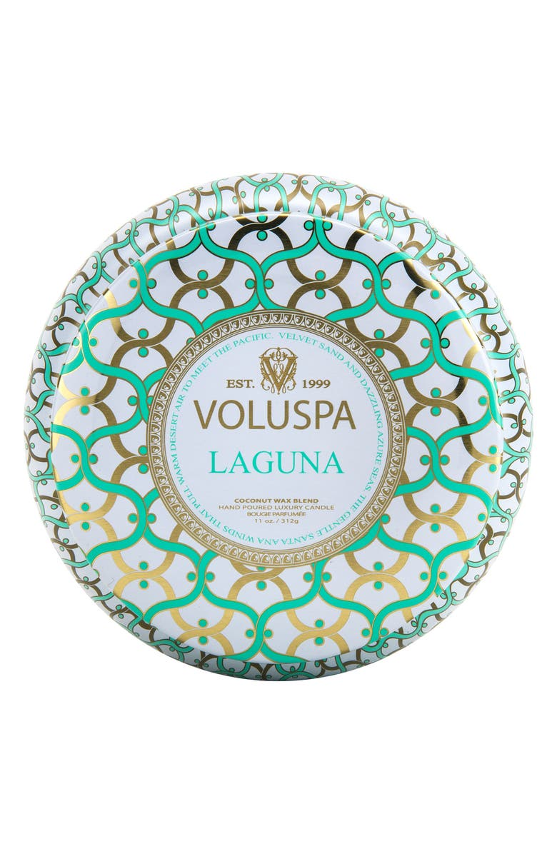 VOLUSPA Maison Blanc Laguna Maison Metallo Two-Wick Candle, Main, color, 000