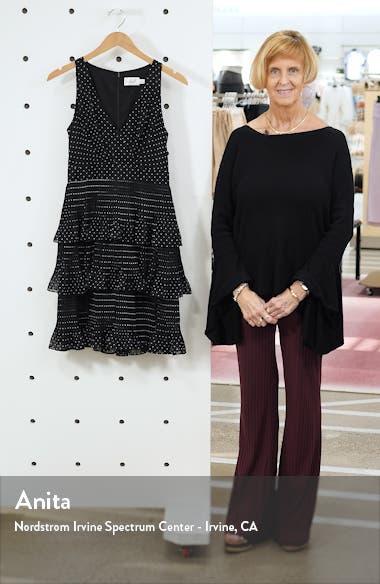 Tiered Pleat Chiffon Dress, sales video thumbnail