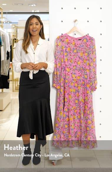 Isabel Fil Coupé Silk Blend Midi Dress, sales video thumbnail