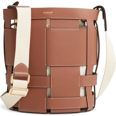 Burberry Small Foster Leather Bucket Bag - Brown