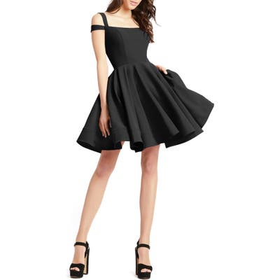 MAC Duggal Cold Shoulder Skater Dress