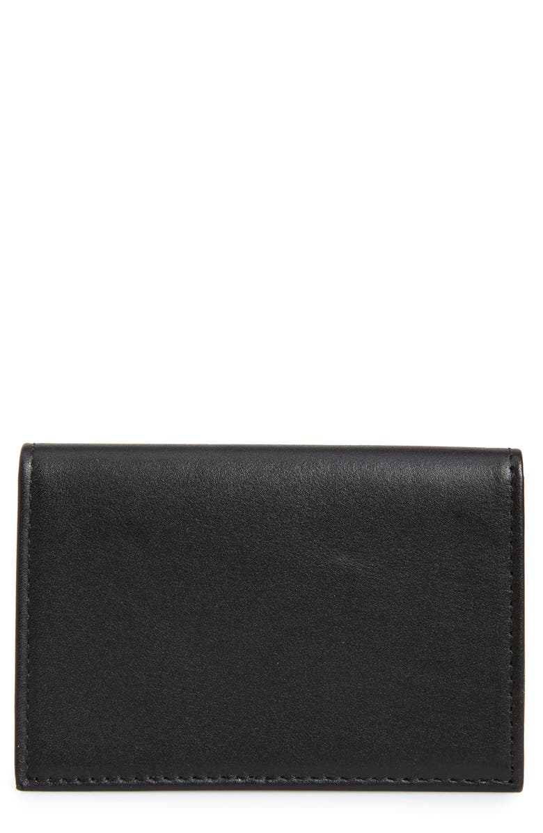 NORDSTROM MEN'S SHOP Chelsea Leather Folding Card Case, Main, color, 001