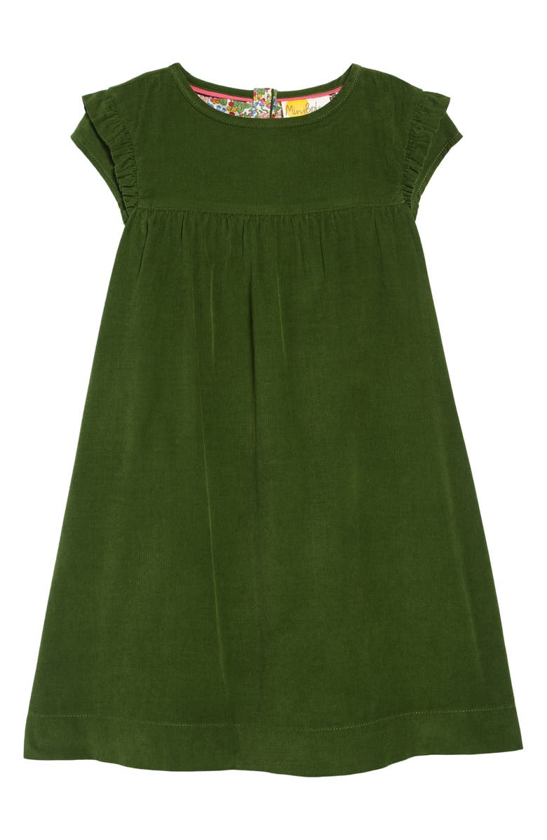 MINI BODEN Easy Everyday Dress, Main, color, WILLOW GREEN