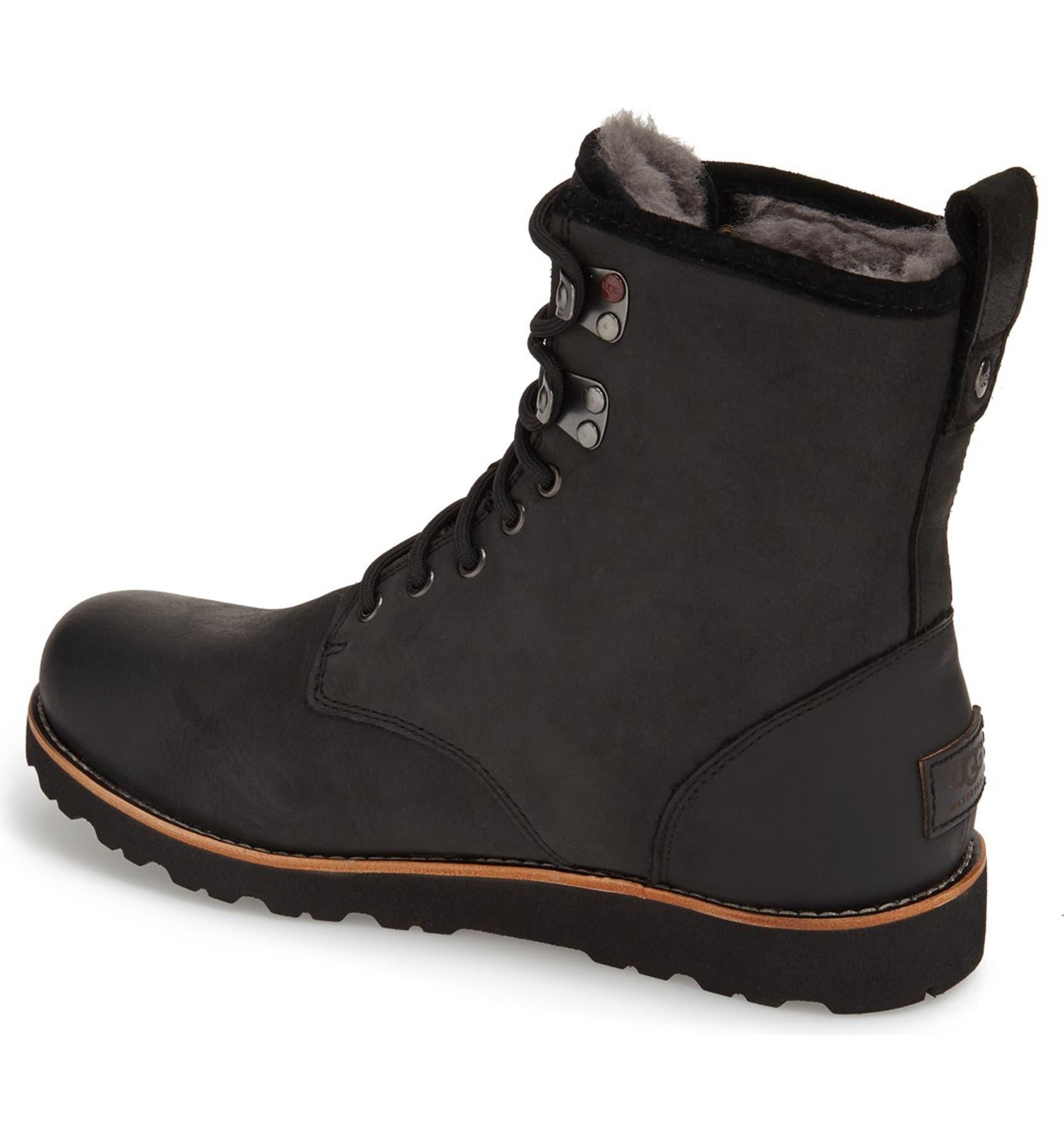 72fb6e361a8 Hannen Plain Toe Waterproof Boot with Genuine Shearling