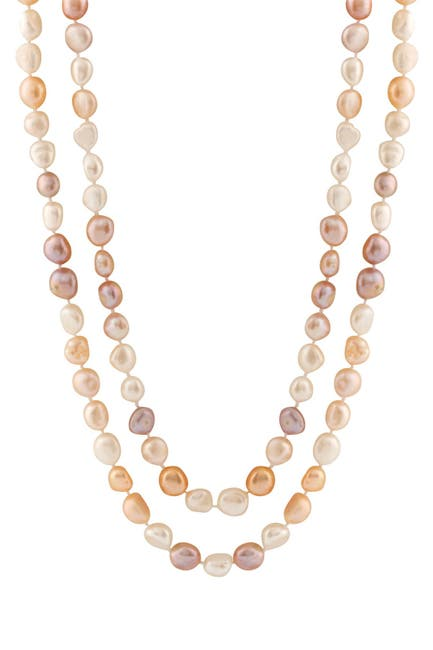 Image of Splendid Pearls Endless Multicolor 9-10mm Freshwater Pearl Necklace